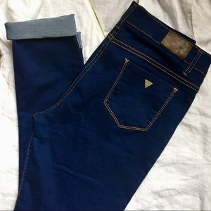 Guess Jeans - Guess high waist dark blue skinny jeans 36-16